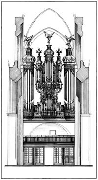 Hamburg, Katharinenkirche, reconstruction drawing